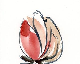 Set 3 Original Abstract Flower Paintings