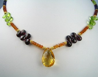 Golden Gems Stunning Jeweled Necklace