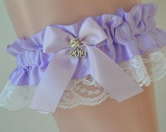 Lilac Prom Garter-Prom Garter