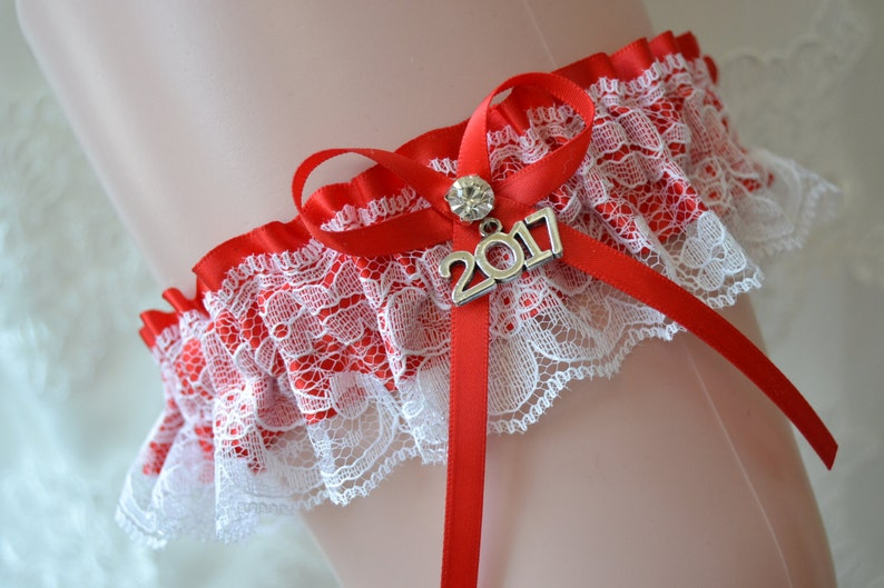 Red Prom Garters Prom Garter Custom Made Prom Garter Red