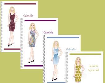 Gabrielle Paper Doll