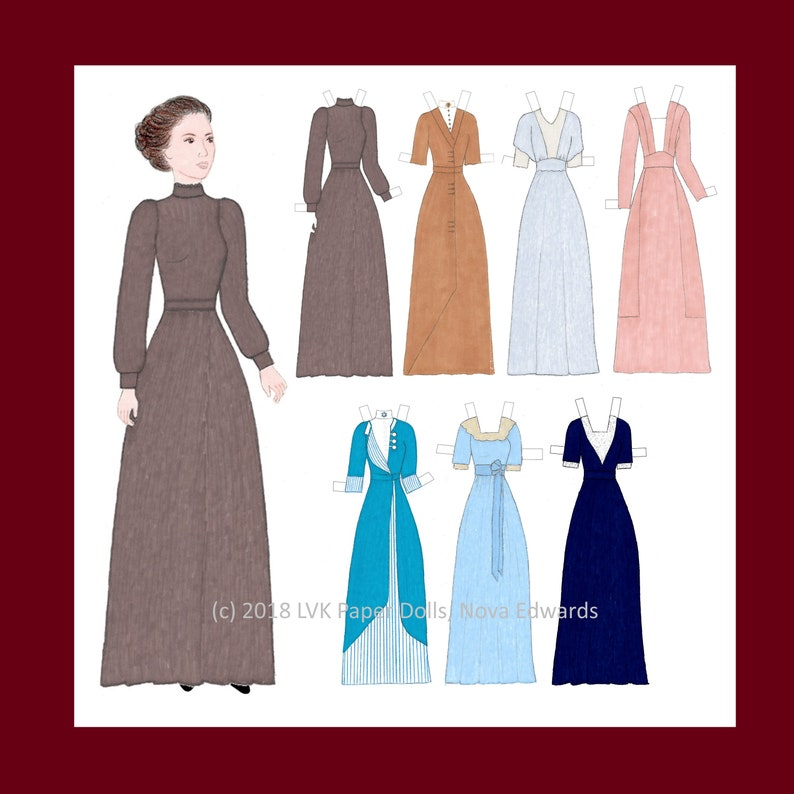 Activist Jovita Idár  Printable Paper Doll and Paper Doll image 0