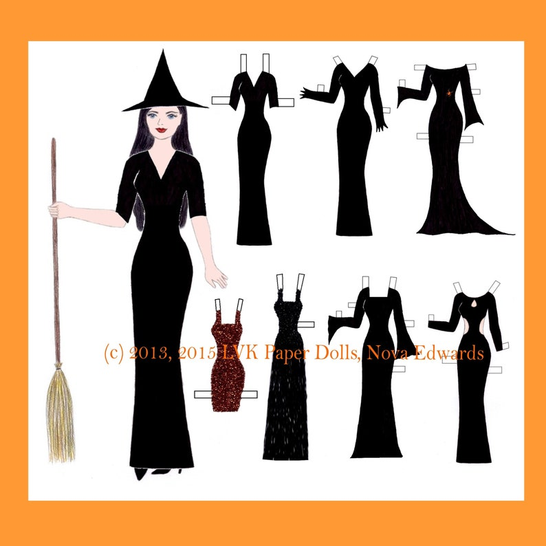 Halle Halloween Paper Doll image 0