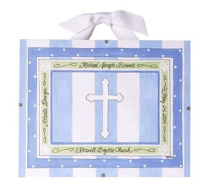 Baptism Gift for Boys  Personalized Christening Gift Baptism image 0