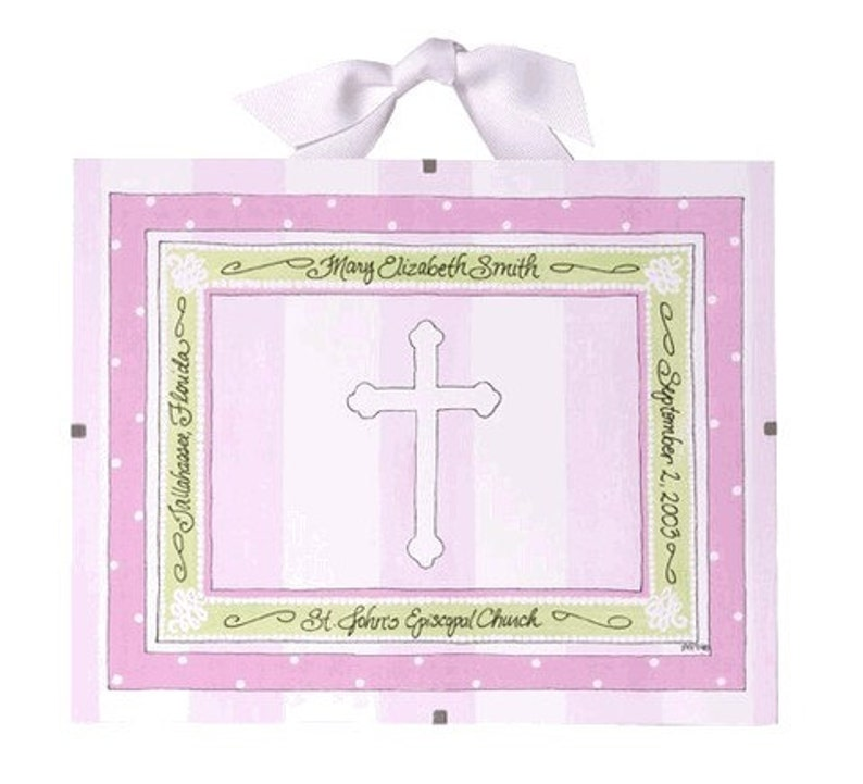 Baptism Gift for Girls  Personalized Christening Gift image 0