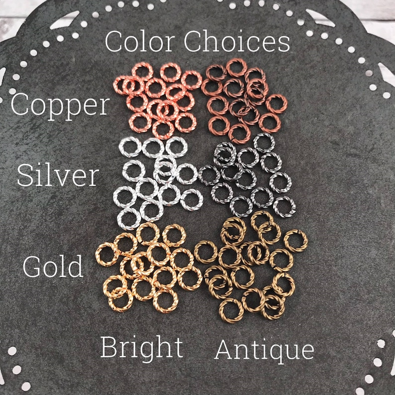 6mm Twisted Open Jump Ring  100 quantity listing  Brass Base image 0