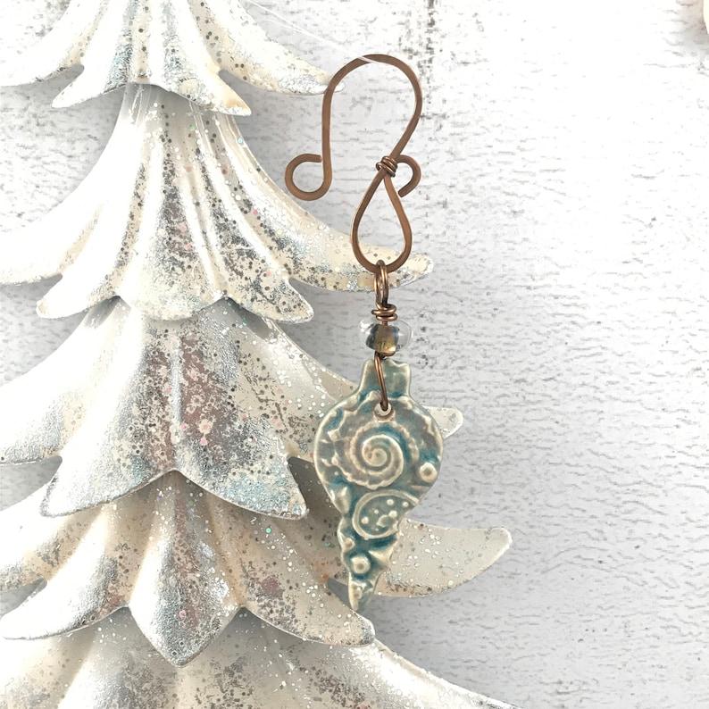 SALE Handmade Christmas Ornament  Beach Themed Ornament  image 0