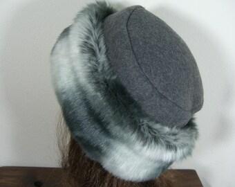 1fa626df71078 Gray Chinchilla Fur Hat