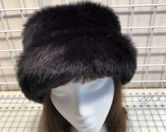 f20d9cbec31 Black Rabbit Faux Fur Hat