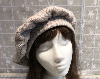 7100ad81eef62 Upcycled Sweater TAM Beret HAT