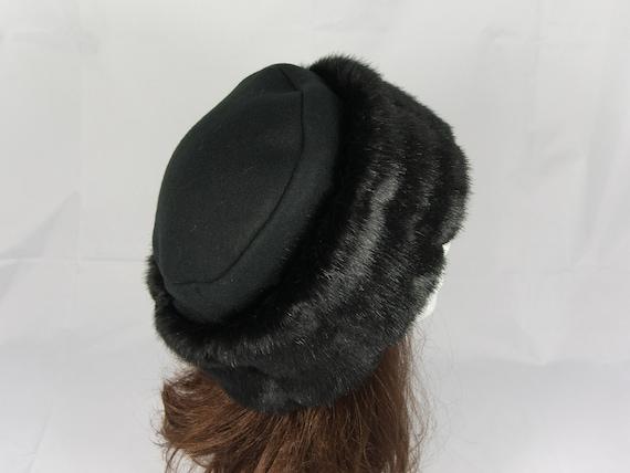 Rich Black Faux Fur Hat Bucket Hat Smooth Beaver Faux Fur Hat Women/'s Winter Hat