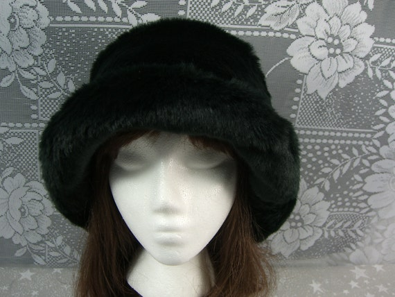 Smooth Black Beaver Faux Fur Hat Women s Fur Hat Black  7668e72ca20