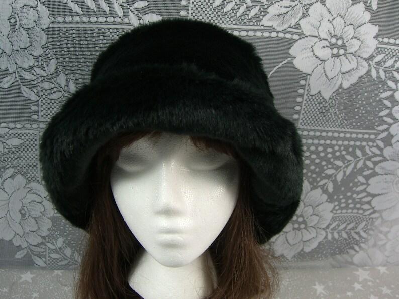 f04be92e191 Smooth Black Beaver Faux Fur Hat Women s Fur Hat Black