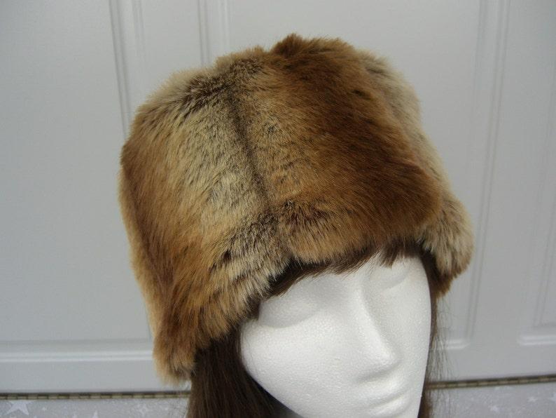 Chinchilla Faux Fur Hat  Faux Fur Hat Bucket Hat image 0
