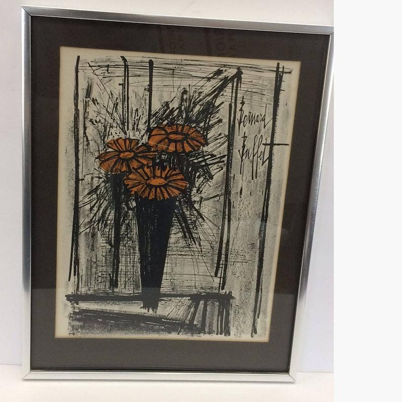 Incredible Flowers Bernard Buffet Lithograph Collectors Guild Framed Print Vintage Fine Art Print Home Interior And Landscaping Ologienasavecom