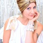 Turban Hat in Gold Hologram Metallic - Women's Fashion Head Wrap - Sparkly Full Turbans - Exotic Summer Hair
