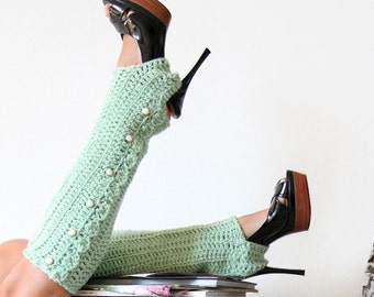 Leg Warmers with Stirrups - Honey Dew - Lots of Colors