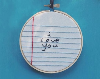 I love you hoop wall hanging