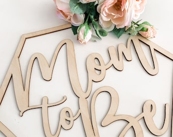 Mom to Be Chair Sign, Baby Shower Decor, Laser Cut Wood Party Signs, Gender Reveal, Mommy to Be, Coed Baby Shower, Dad to Be PUD0007