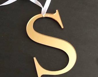 Letter Ornament Etsy