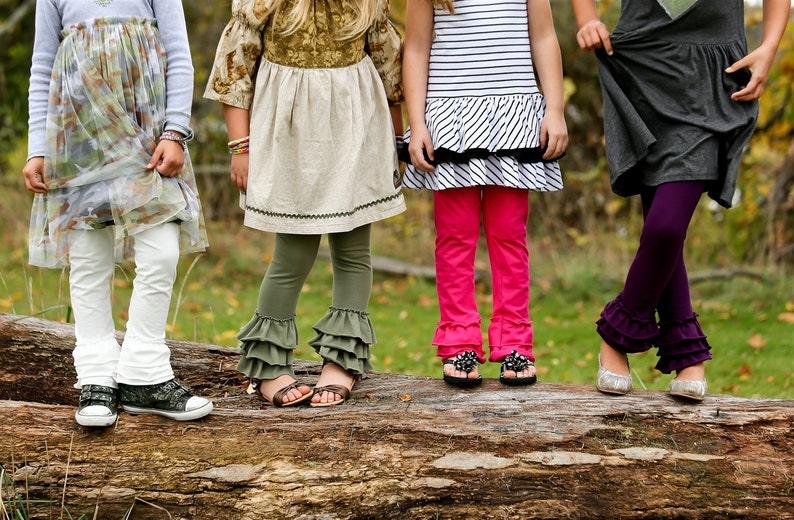 0fdb5631b0 Triple Ruffle Leggings Girls size 6 month to 9 10 Special