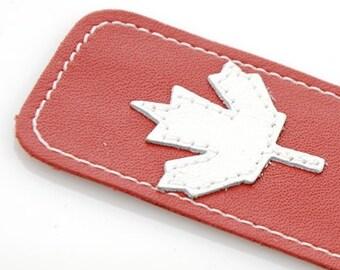 Leather Bookmark // Maple Leaf Bookmark // Canadian Bookmarks // Handmade Bookmark // Teacher Gift // Grad Gift // Christmas Gift // Canada