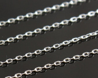 2305-100 Bulk Chain Sterling Silver 1.5 x 1.2mm Flat Cable Chain 100ft Discounted Price 1