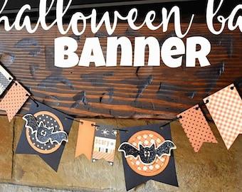 KIT Halloween BANNER Going Batty /Decorations / Decor / Party Decorations / Bats Banner /Bat Garland / Party Decor /Classroom Decor / School