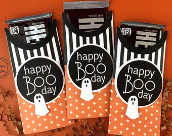KIT Halloween Candy Bar Wrap, Happy Boo Day, Candy Card, Treats, Gifts, Party Favor, CoWorker Gift, Employee Gift, Classroom Treat, Office