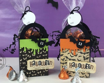 KIT Halloween Treat Box, Bat Treats, Candy Box, Gifts, Party Favor, Game Prize, Co-Worker Treats, Employee Gifts. Office Staff, Classroom