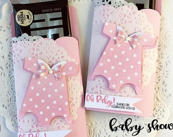 Baby Shower Party Favor, Candy Bar Wraps, thanks for coming, It's A Girl, Hershey Candy Bar Wrappers, Baby Shower Party, Pink