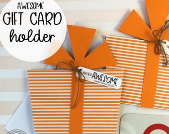 KIT You're Awesome Gift Card Holder / Employee Recognition / Teacher Appreciation / Corporate Gifts / Co-Workers Gifts / Nurse Appreciation