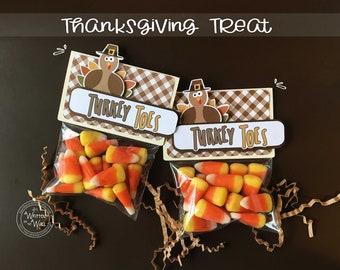 KIT Thanksgiving Turkey Toes, Candy Corns, Thanksgiving Treats, Co-Worker Treats, Office Treats, Employee, Place Setting, Classroom Treats