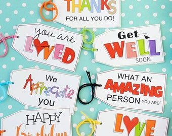 Tags for Random Acts of Kindness, Treat Tags, Treats for Friends, You're Appreciated Card, Visit Teaching, Teacher Appreciation Gift Tags