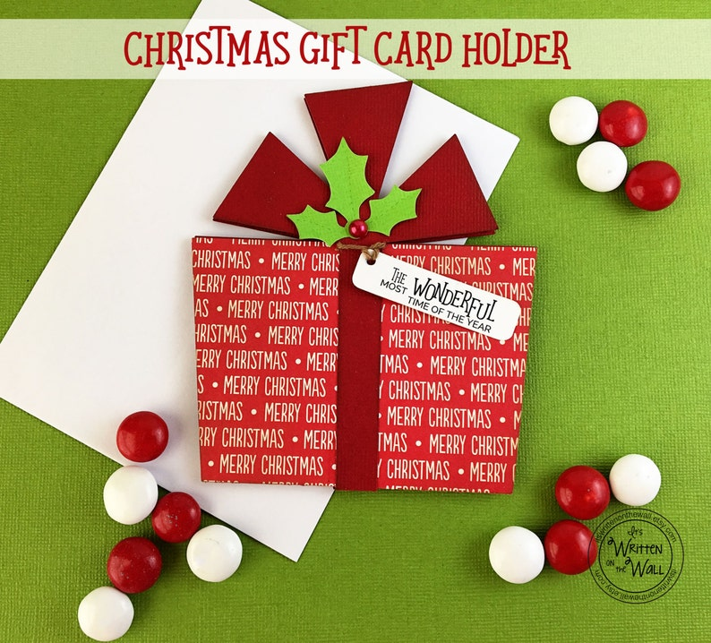 Merry Christmas Gift Card.Kit Christmas Gift Card Holder Most Wonderful Time Of The Year Stocking Stuffers Christmas Gift Cards For Employees Teen Gift Ideas