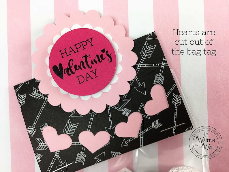 KIT Treat Bag Valentines Treat Personalized Name Tag Party image 0