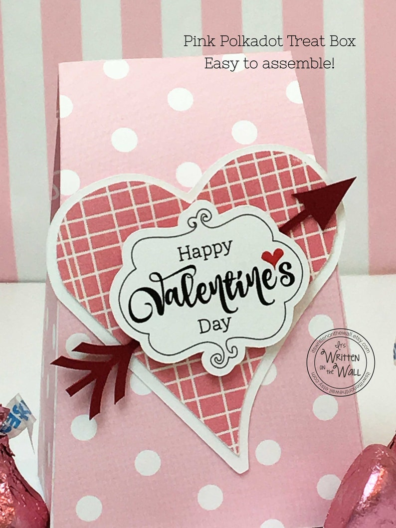 KIT Treat Boxes Valentine's Day Personalized Name Tag image 0