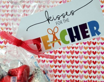 Teacher Appreciation /Kisses for the Teacher / Hershey Kisses / Music Teacher/ Coach Gifts / Treats for Teacher /School Staff Gifts