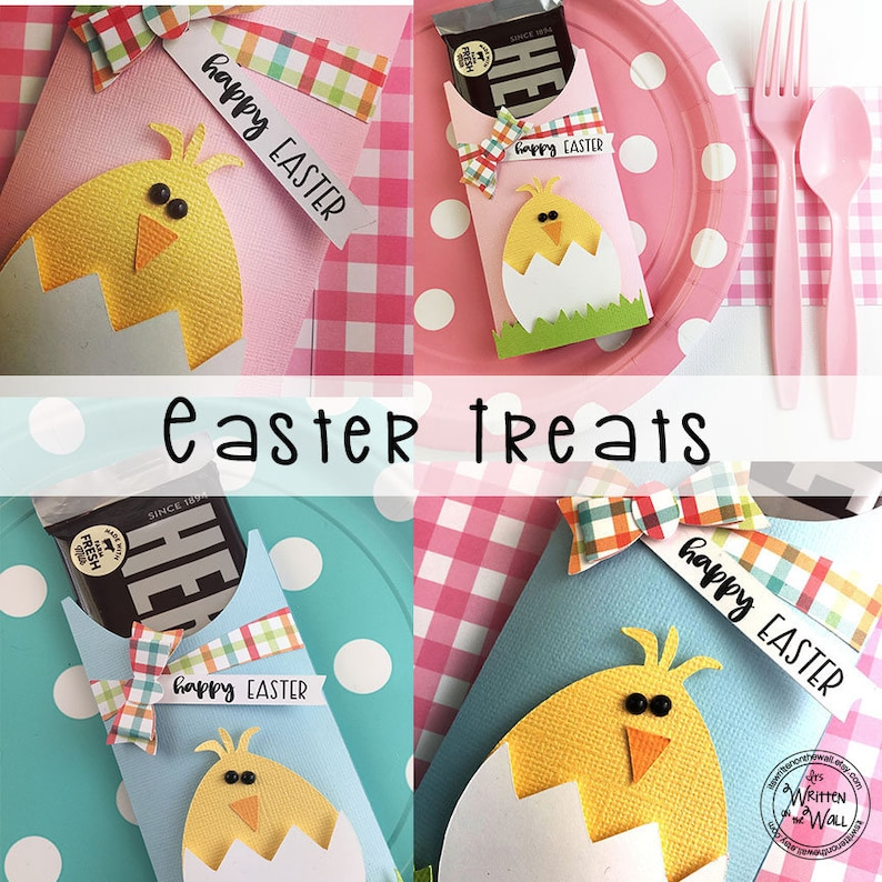 KIT Easter Chick Candy Bar Wrappers/ Party Favor/ Hershey image 0