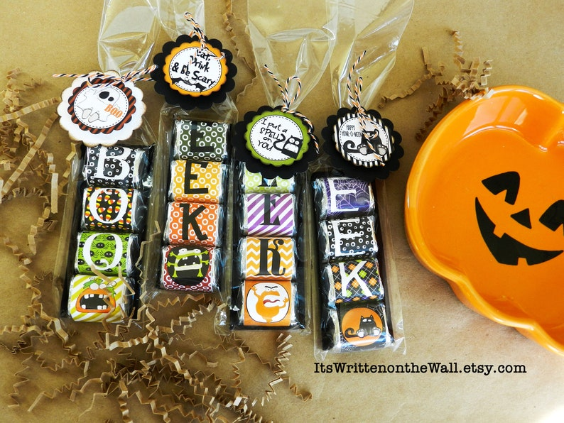 8 Sets of Halloween Hershey Nugget Treats / Plus 12 Different image 0