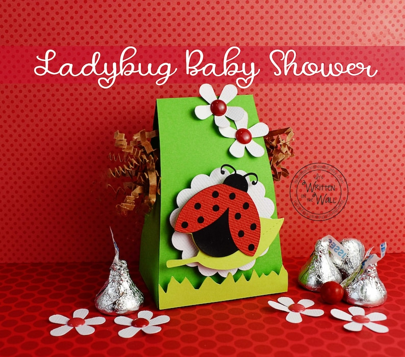 Kit Ladybug Baby Shower Treat Boxes Party Favor Candy Box Etsy