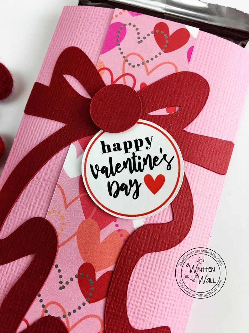 KIT Valentine Candy Card Candy Bar Wrappers Happy Employee image 0