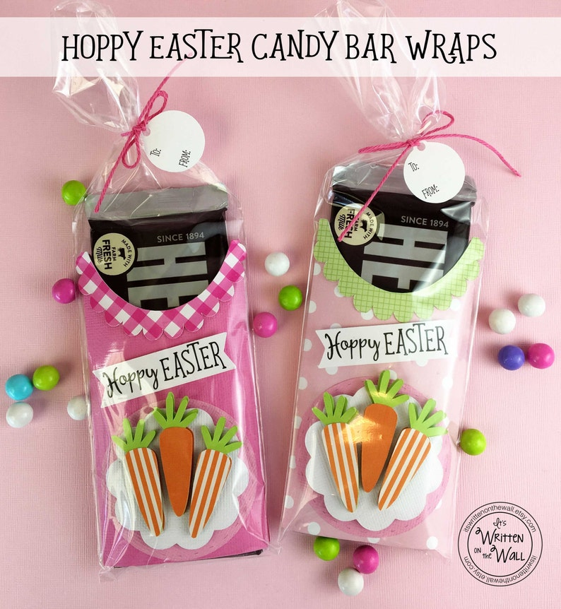 KIT Easter Carrot Candy Bar Wrappers /Employee Gifts / image 0