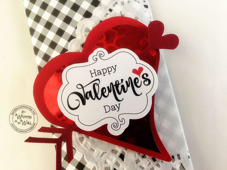 KIT Valentine Heart Candy Bar Wrappers / Employee Gift / image 0