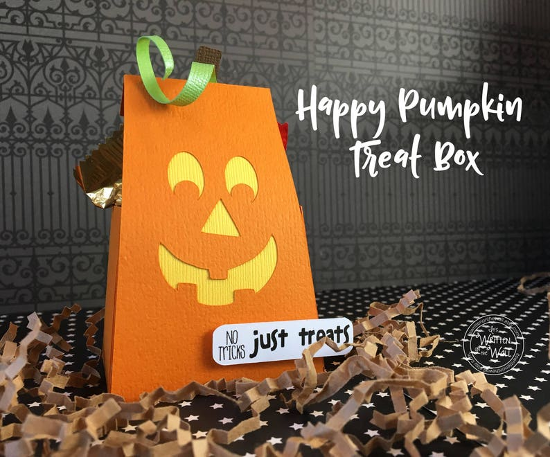 KIT Halloween Treat Box Party favor Happy Pumpkin Teacher image 0