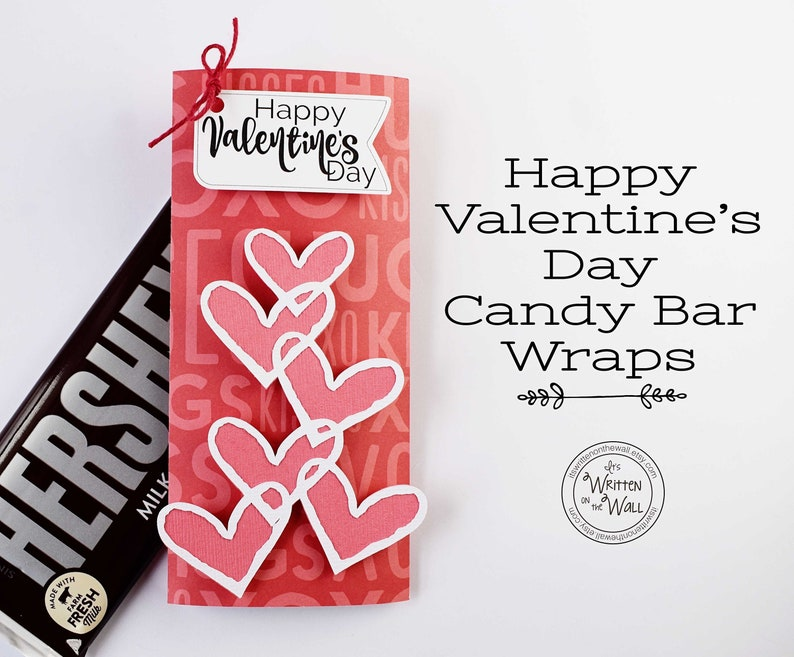 KIT Valentine Candy Card Candy Bar Wrappers Employee image 0