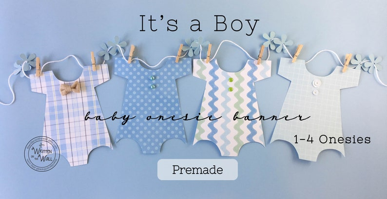 PREMADE 8 Onesies-Baby Shower Banner Baby Shower Decoration image 0