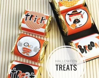 Halloween Kids Nugget Wraps, Orange, Hershey Candy Wraps, Teacher Appreciation, Party Favor, Classroom Treats for Kids, Party Treats