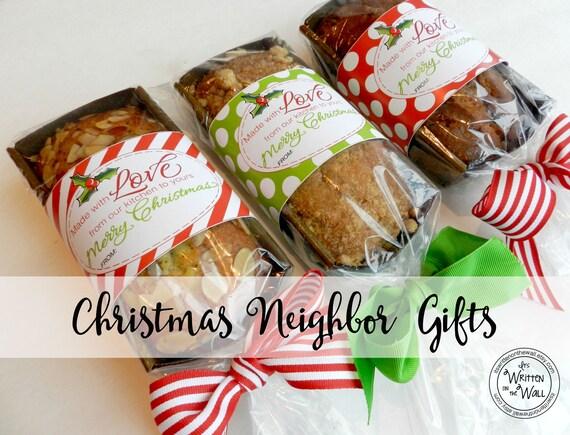 6 christmas food gift tags christmas neighbor gifts etsy