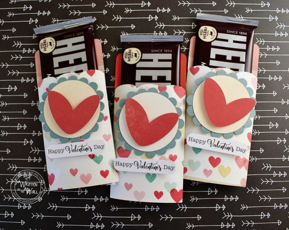 Kit Valentine Hearts Candy Bar Wrappers Hershey Bar Etsy